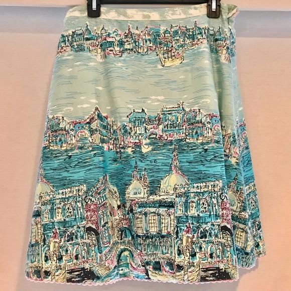 elevenses Dresses & Skirts - Anthropologie Elevenses Postcard From Venice Skirt